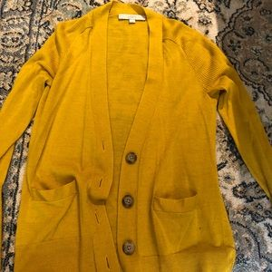 Mustard S Loft Cardigan with Buttons + Pockets!